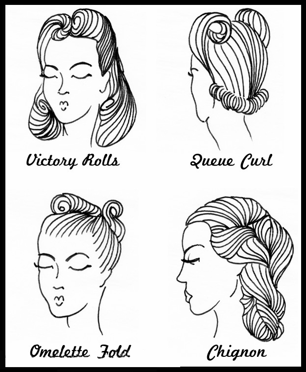 How to do 40s hairstyles 1940s hairstyles